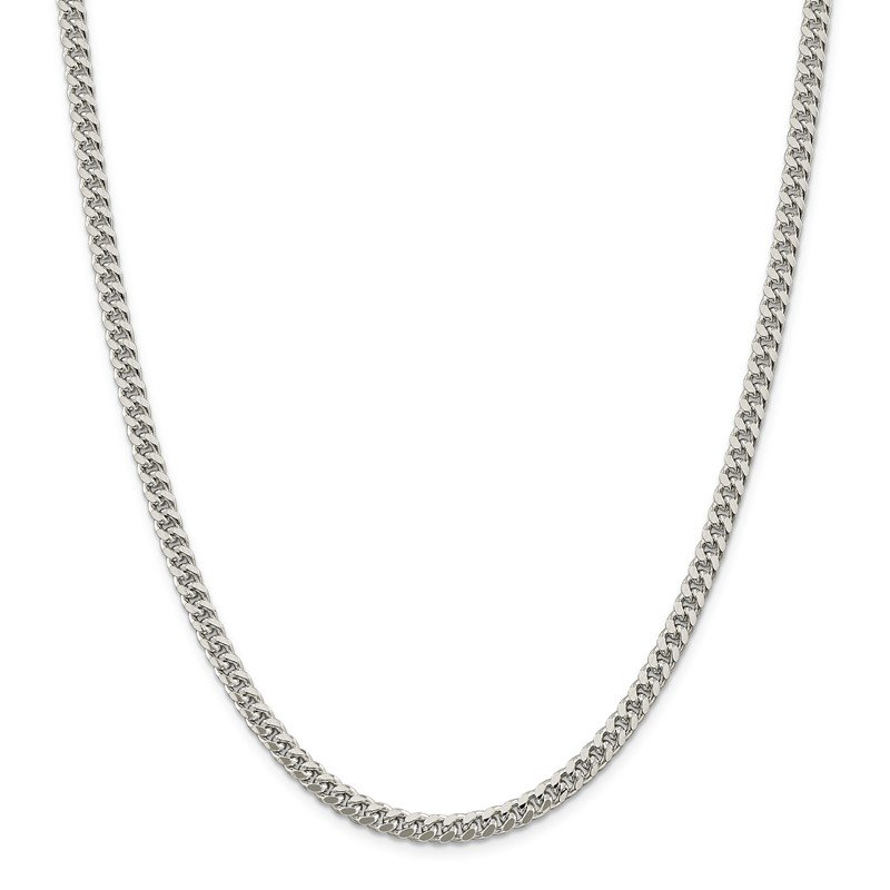 Quality Gold Sterling Silver 5mm Domed w/ Side D/C Curb Chain