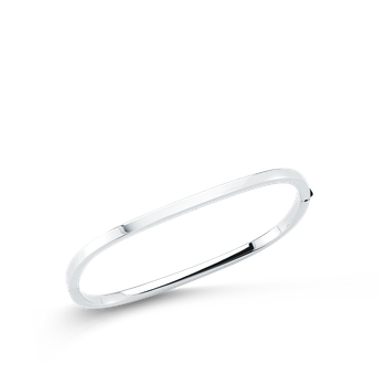 Square Bangle &Ndash; 18K White Gold