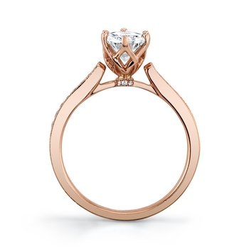 MARS 25283-OV Diamond Engagement Ring, 0.15 Ctw