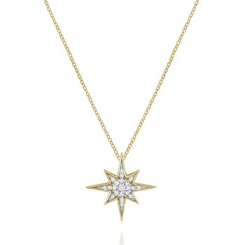 14K Sun Starburst Necklace