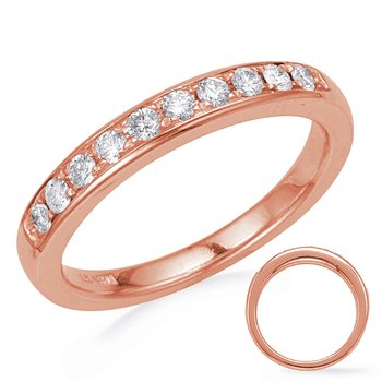 Rose Gold Diamond Wedding Band