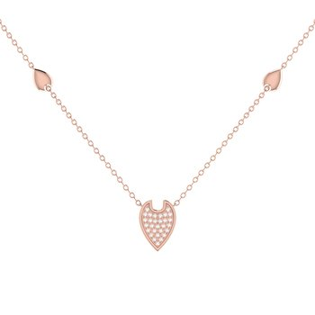Raindrop Necklace in 14 KT Rose Gold Vermeil on Sterling Silver