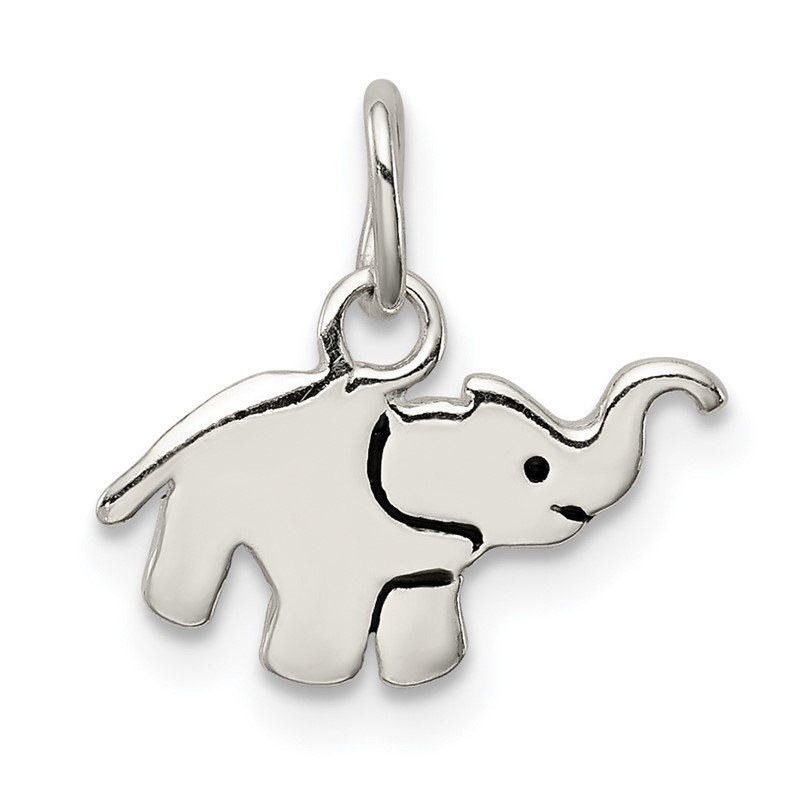 Quality Gold Sterling Silver Enameled Elephant Charm