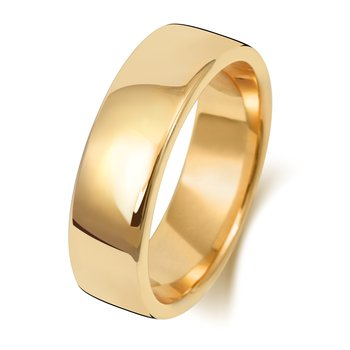 18Ct Yellow Gold 6mm Soft Court Wedding Ring
