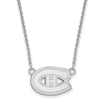 Sterling Silver Montreal Canadiens NHL Necklace