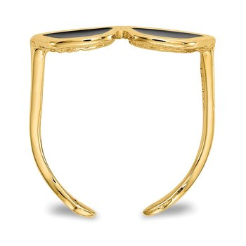 14k Enameled Sunglasses Toe Ring