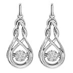 Necker's Signature Collection Silver Diamond Rhythm Of Love Earrings