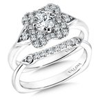 Valina Floral shape halo .31 ct. tw., 1/2 ct. round center