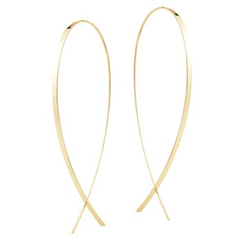 Medium Elongated Flat Upside Down Hoops