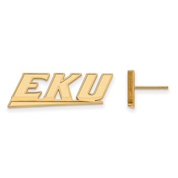 Gold Eastern Kentucky University NCAA Earrings