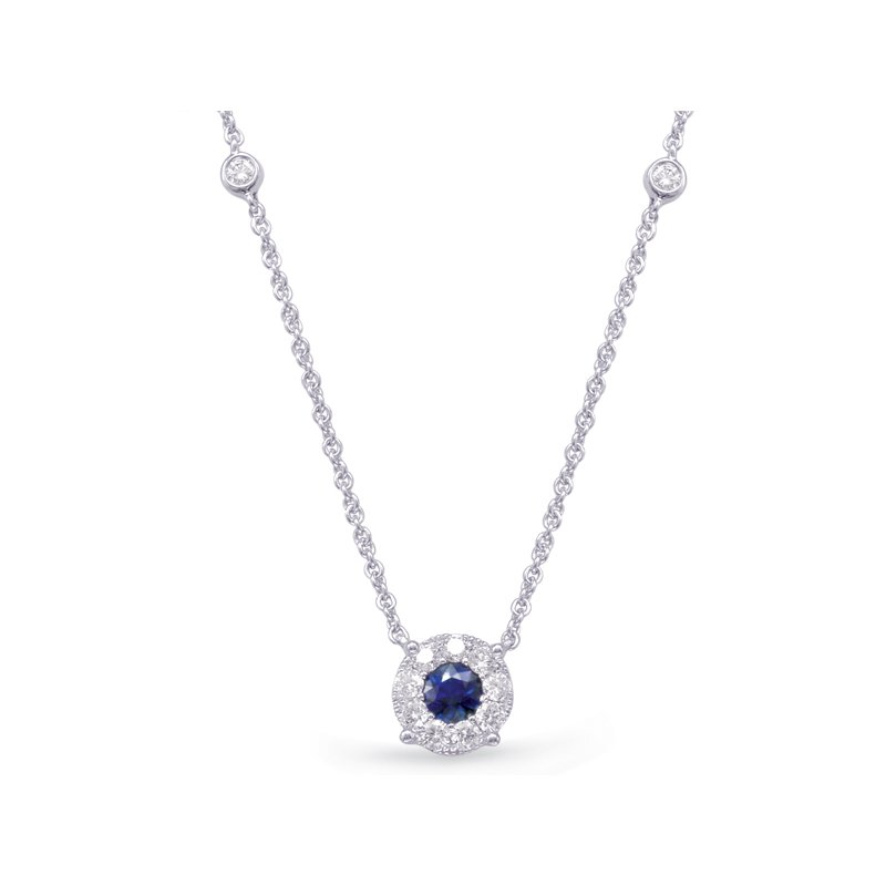 S. Kashi  & Sons White Gold Diamond & Sapphire Necklace