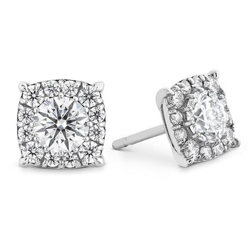1.65 ctw. HOF Custom Halo Diamond Stud Earrings