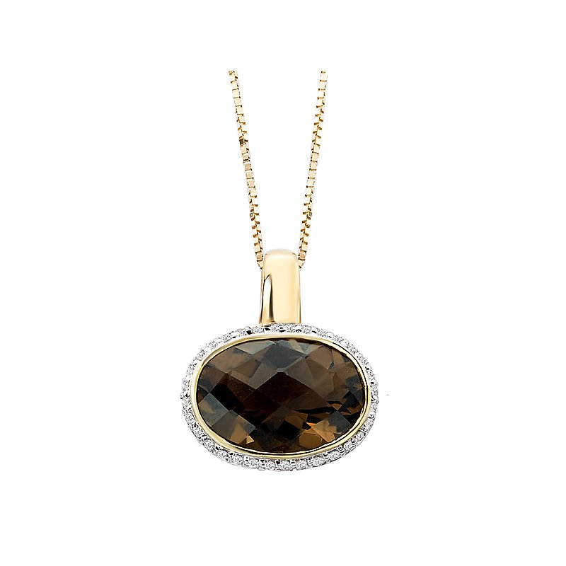 Tesoro Diamond Smoky Quartz Pendant