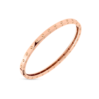 18KT GOLD SYMPHONY POIS MOI OVAL BANGLE