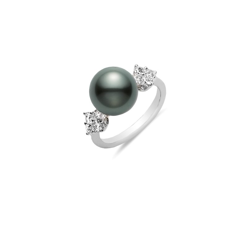 Mikimoto Classic Elegance Black South Sea Cultured Pearl Ring