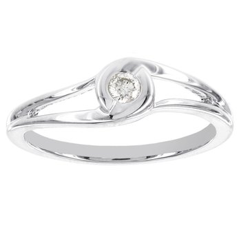 Sterling Silver 1/10ct TDW Diamond Promise Ring