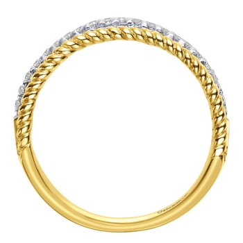 14K Yellow-White Gold   Matching Wedding Band