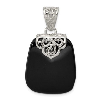 Sterling Silver Black Onyx Pendant