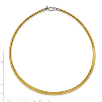 Sterling Silver Flash Gold-plate Reversible 5.75mm Cubetto Chain