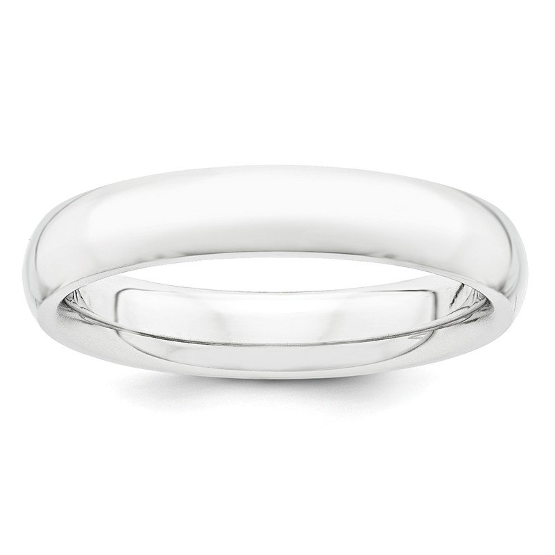Quality Gold Platinum 4mm Half-Round Comfort Fit Lightweight Band