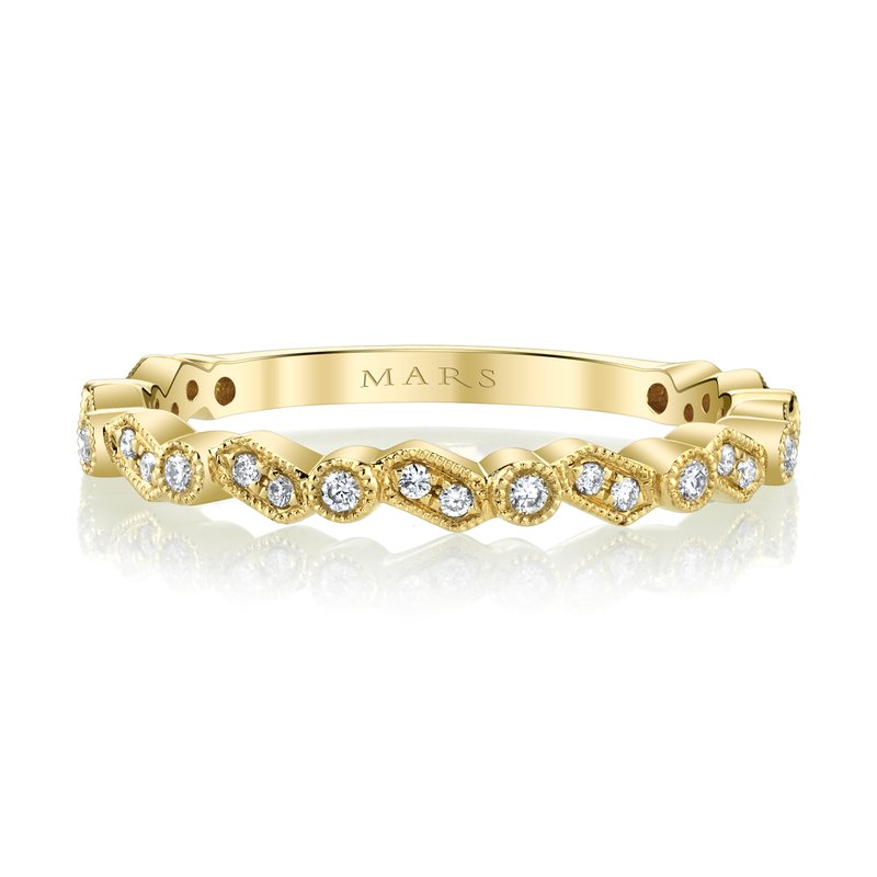 MARS Jewelry MARS 27275 Stackable Ring, 0.15 Ctw.