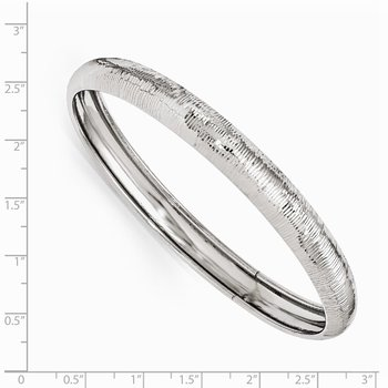 Leslie's SS Radiant Essence Rhodium-plated D/C Slip On Bangle
