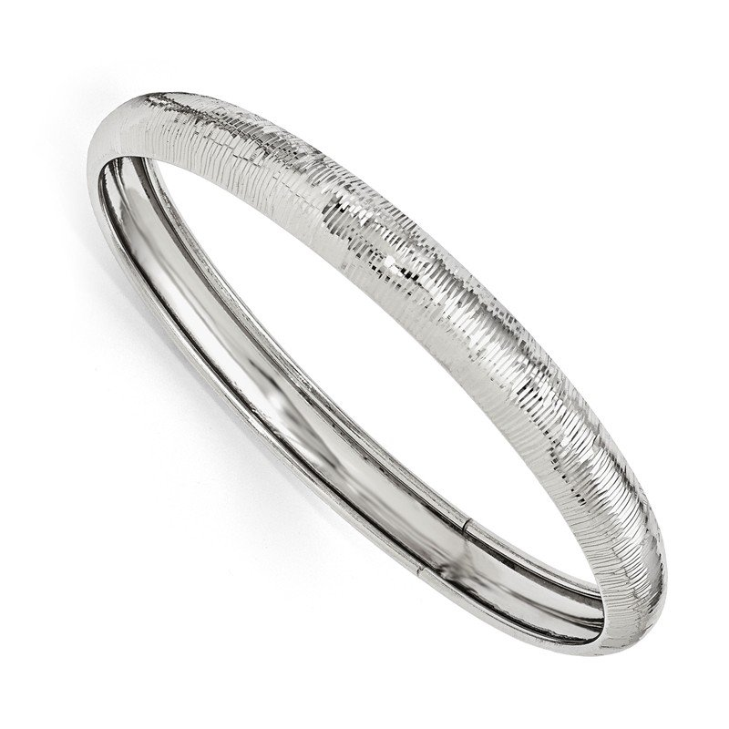Leslie's Leslie's SS Radiant Essence Rhodium-plated D/C Slip On Bangle