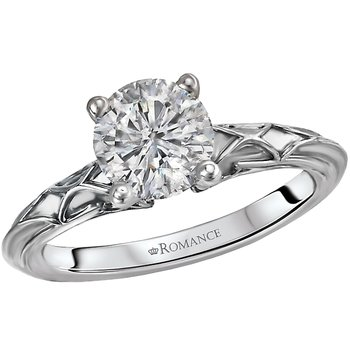 Semi-Mount Solitaire Diamond Ring