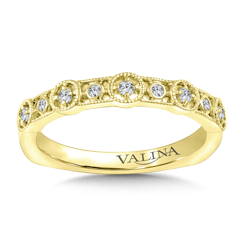 Valina Bridals Stackable Wedding Band in 14K Yellow Gold (.11 ct. tw.)
