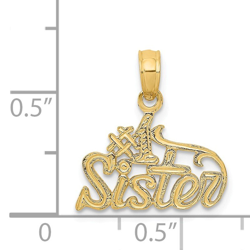 Quality Gold 14k #1 SISTER Pendant