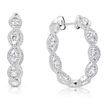 Inside Out Diamond Hoop Earring