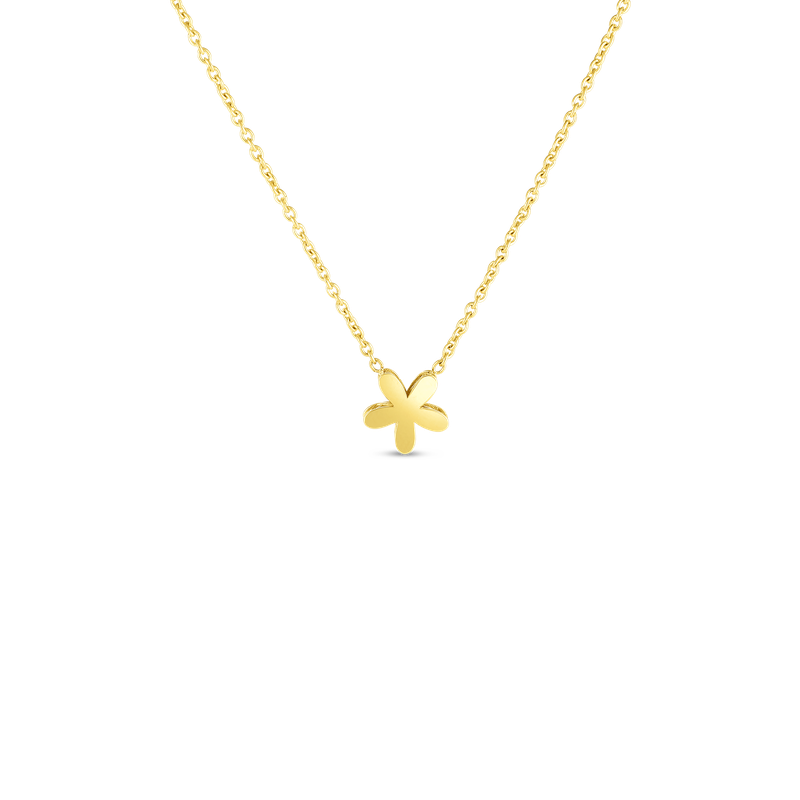 Roberto Coin 18Kt Gold Y Fiore Princess Necklace