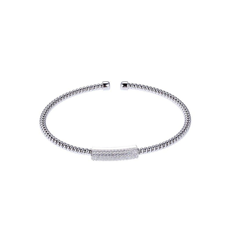 ELLE Boutique Flex Collection Bangle - White