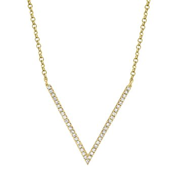 Diamond V Shaped Necklace