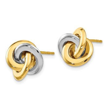 Leslie's 14k Two-tone Polished Post Earrings