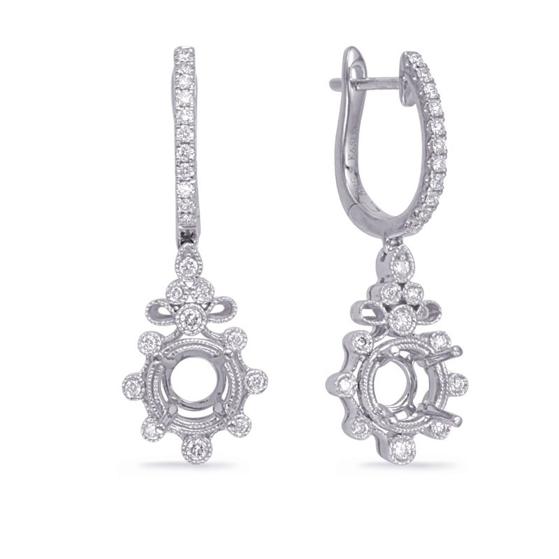 S. Kashi  & Sons White Gold Diamond Earring 1/3ct