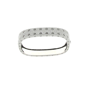 #25554 Of 2 Row Pave Diamond Bangle