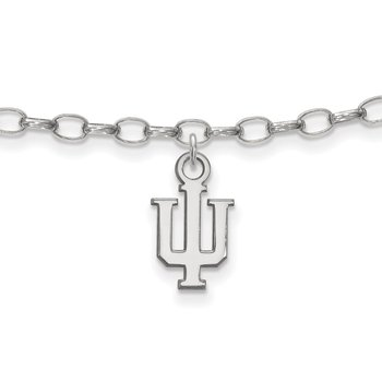 Sterling Silver Indiana University NCAA Bracelet
