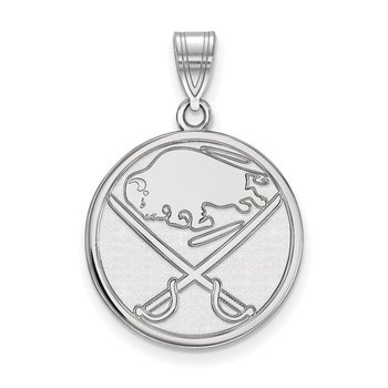 Sterling Silver Buffalo Sabres NHL Pendant