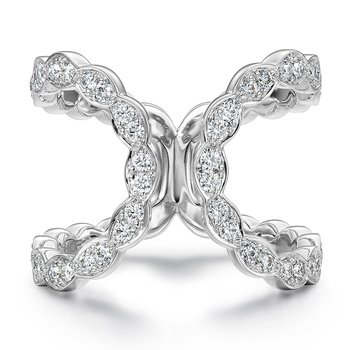0.55 ctw. Lorelei Floral Open Ring