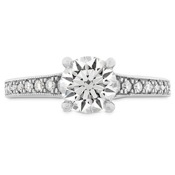 0.32 ctw. Liliana Milgrain Engagement Ring - Dia Band