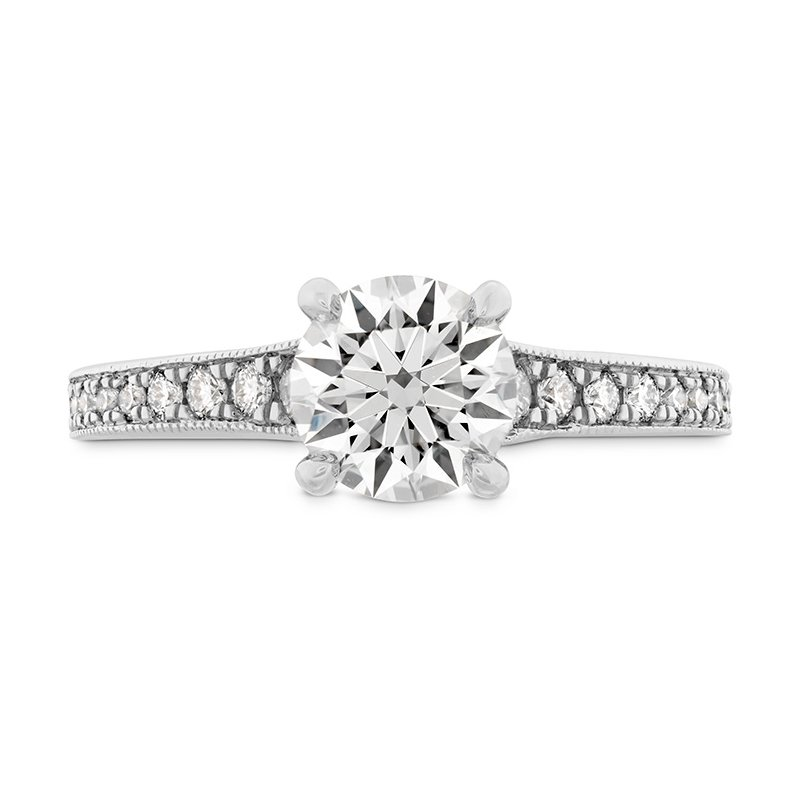 Hearts on Fire 0.32 ctw. Liliana Milgrain Engagement Ring - Dia Band