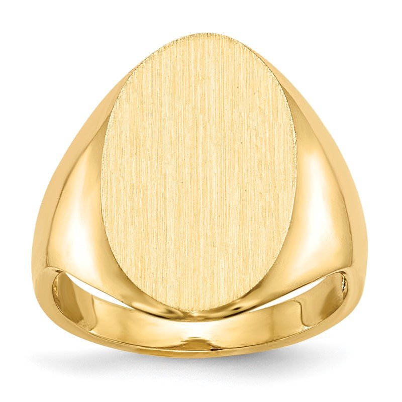 14k 12.0x17.0mm Open Back Signet Ring