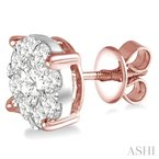 ASHI lovebright essential diamond earrings