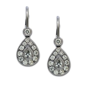 Pear Shape Diamond Drops