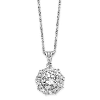 Cheryl M Sterling Silver CZ 18in Necklace