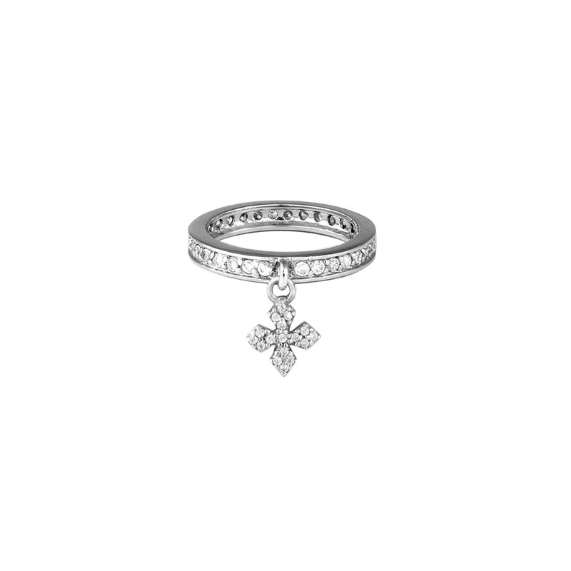 King Baby Cz Ring W/ Mb Cross Size 5.5