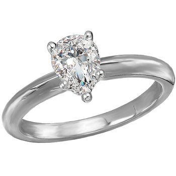 Solitaire Semi-Mount Diamond Engagement Ring