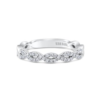 Intertwined Diamond Wedding Band