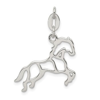 Sterling Silver Polished Horse Charm